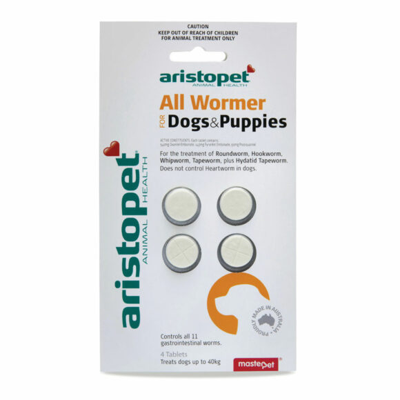 Aristopet All Wormer for Dogs and Puppies - 4 Tablets 1