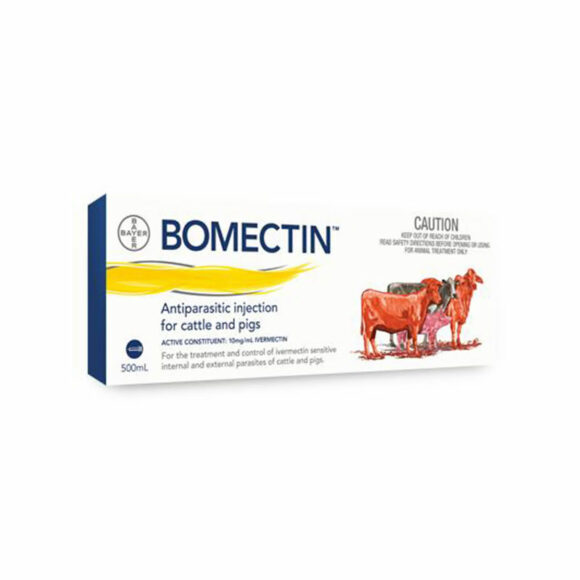 Bomectin Antiparasitic Injection for Cattle and Pigs 500mL 1