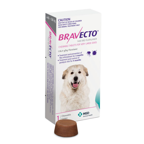 Bravecto Pink Chew for Very Large Dogs - Single 1