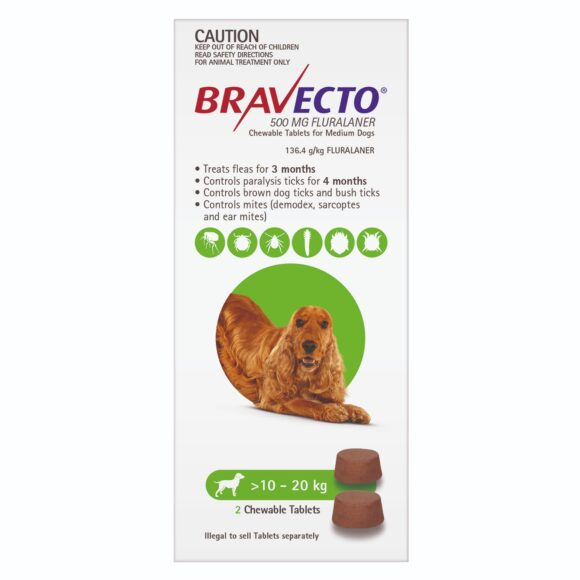 Bravecto Green Chew for Medium Dogs - 2 Pack 1