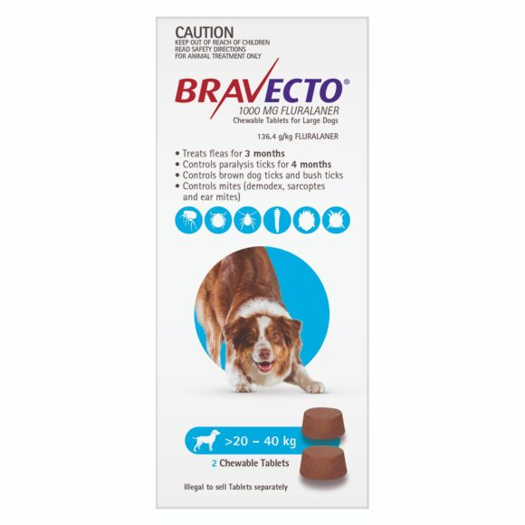 Bravecto Blue Chew for Large Dogs - 2 Pack 1