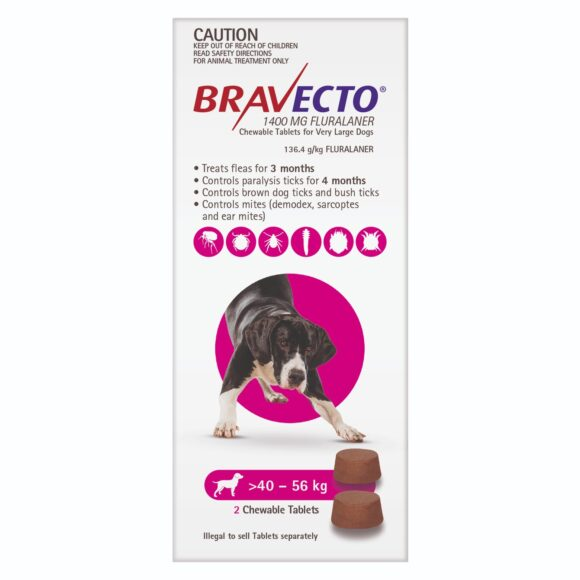 Bravecto Purple Chew for Very Large Dogs - 2 Pack 1