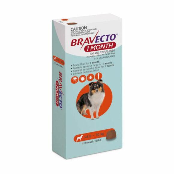 Bravecto 1 Month Orange Chew for Small Dogs - Single 1