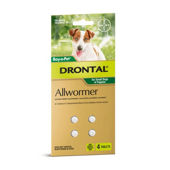 Drontal Allwormer Tablets for Dogs (up to 10kg) - 5 Pack 2