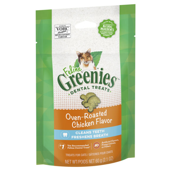 Feline Greenies Dental Treats Oven Roasted Chicken Flavour 60g 1