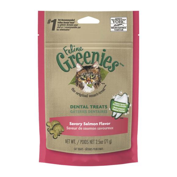 Feline Greenies Dental Treats Savoury Salmon Flavour 71g 1