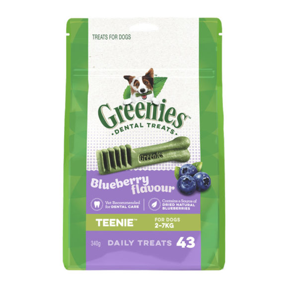 Greenies Blueberry Teenie Dental Treats for Dogs - 43 Pack 1