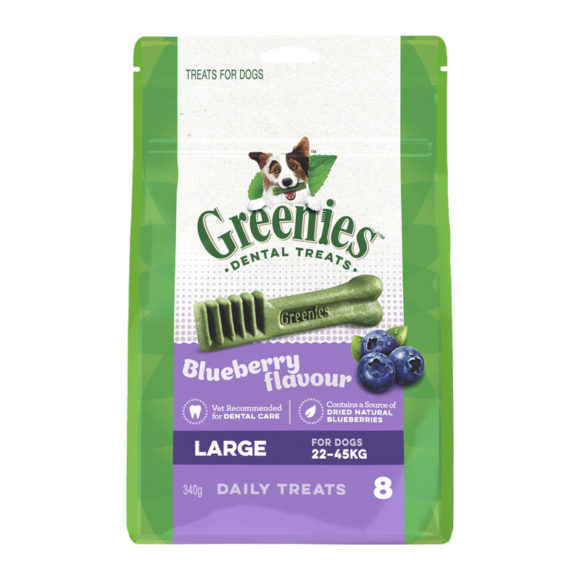 Greenies Blueberry Large Dental Treats for Dogs - 8 Pack 1