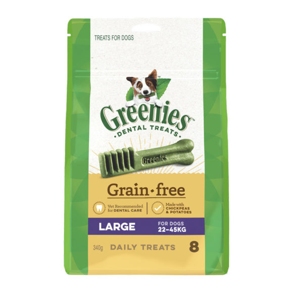 Greenies Grain Free Large Dental Treats for Dogs - 8 Pack 1