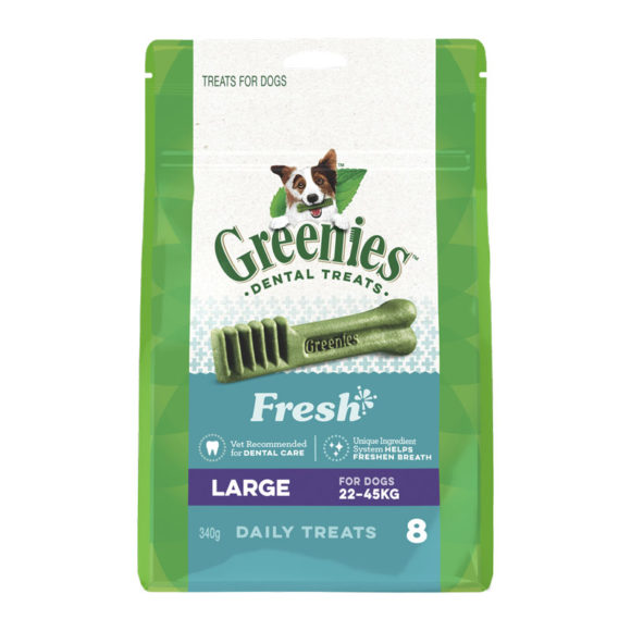 Greenies Fresh Large Dental Treats for Dogs - 8 Pack 1