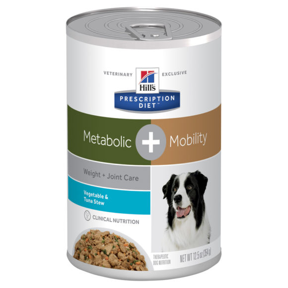 Hills Prescription Diet Canine Metabolic + Mobility Vegetable & Tuna Stew 354g x 12 Cans 1