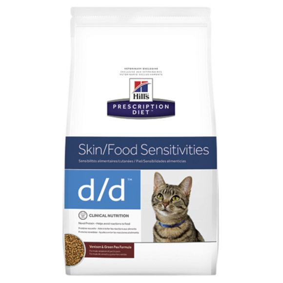 Hills Prescription Diet Feline d/d Skin/Food Sensitivities Venison & Green Pea 1.59kg 1