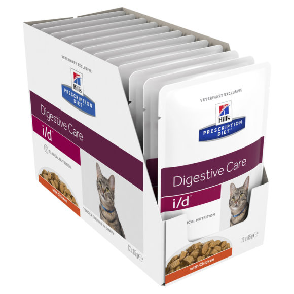 Hills Prescription Diet Feline i/d Digestive Care Chicken 85g x 12 Pouches 1