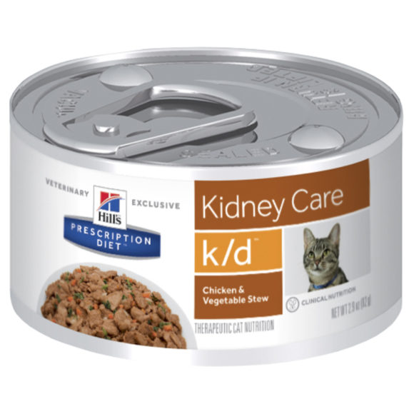 Hills Prescription Diet Feline k/d Kidney Care Chicken & Vegetable Stew 82g x 24 Cans 1