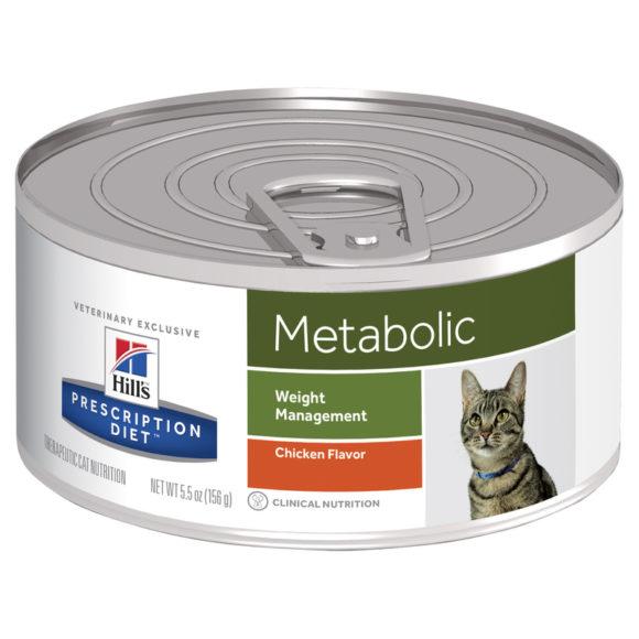 Hills Prescription Diet Feline Metabolic Chicken Flavour 156g x 24 Cans 1