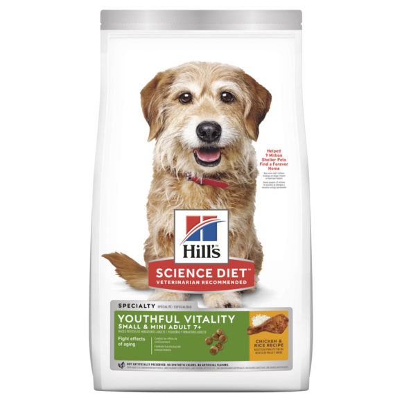 Hills Science Diet Adult Dog 7+ Youthful Vitality Small & Mini 1.58kg 1