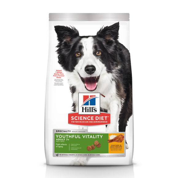 Hills Science Diet Adult Dog 7+ Youthful Vitality 1.58kg 1