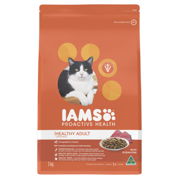 IAMS Healthy Adult Original with Ocean Fish 3kg 1