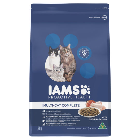 IAMS Adult Multi-cat Complete Chicken & Salmon 3kg 1