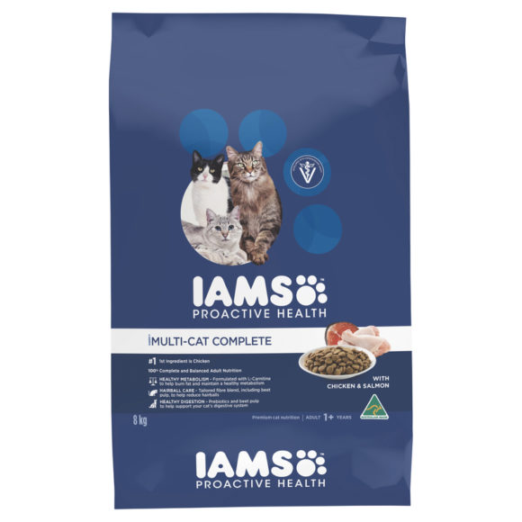 IAMS Adult Multi-cat Complete Chicken & Salmon 8kg 1