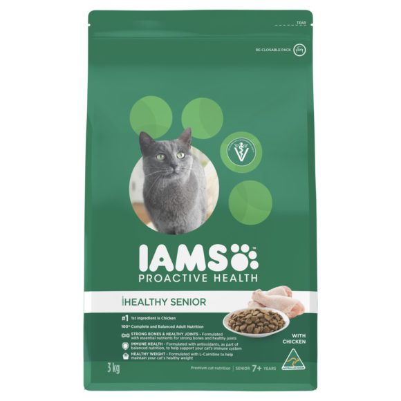 IAMS Healthy Mature & Senior Cat Chicken 3kg 1