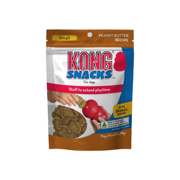 Kong Snacks for Dogs Peanut Butter Recipe Small 200g 1