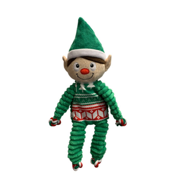 KONG Dog Christmas Floppy Knots Elf Medium 1