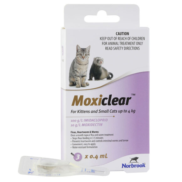 Moxiclear Purple for Kittens and Small Cats - 3 Pack 1