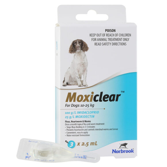Moxiclear Blue for Medium Dogs - 3 Pack 1