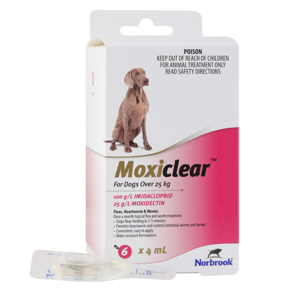 Moxiclear Pink for Large Dogs - 6 Pack 1
