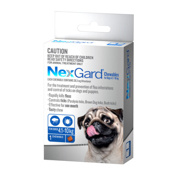 NexGard Blue Chew for Medium Dogs (4.1-10kg) - Single 1