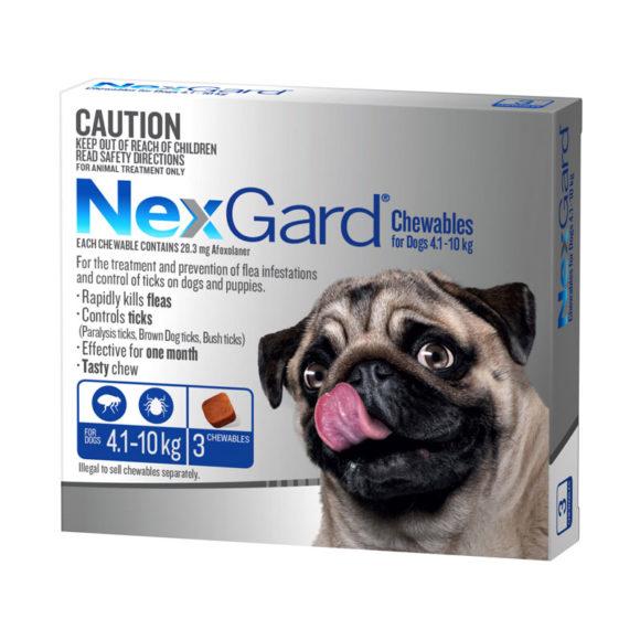 NexGard Blue Chews for Medium Dogs (4.1-10kg) - 3 Pack 1