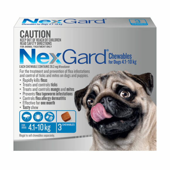 NexGard Blue Chews for Medium Dogs (4.1-10kg) - 3 Pack 1