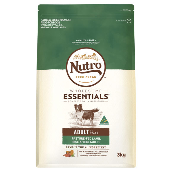 Nutro Wholesome Essentials Adult Dog Lamb Rice & Vegetables 3kg 1