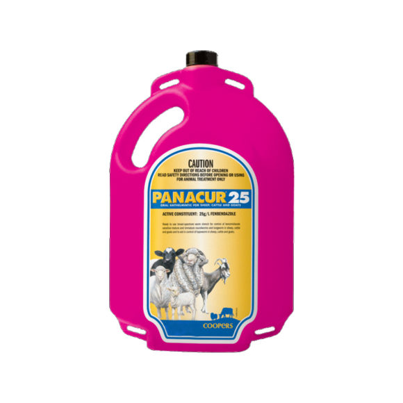 Coopers Panacur 25 Drench for Sheep, Cattle and Goats 1L 1