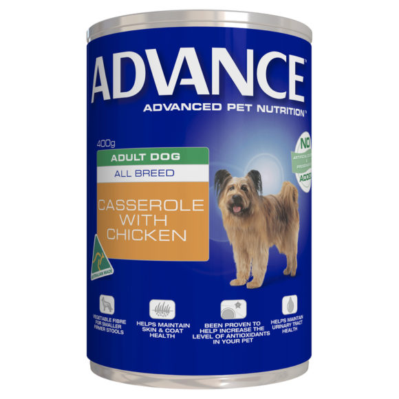 Advance Adult Dog All Breed Casserole with Chicken 400g x 12 Cans 1