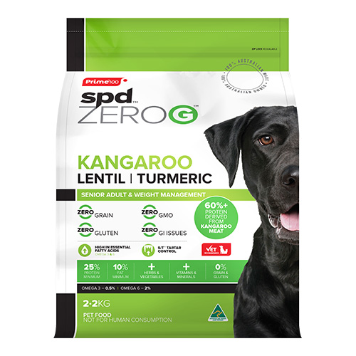 Prime100 SPD ZeroG Adult Dog Chicken, Lentil & Turmeric 2.2kg 2