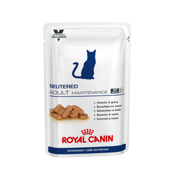 Royal Canin Vet Care Nutrition Feline Neutered Adult Maintenance 100g x 12 Pouches 1