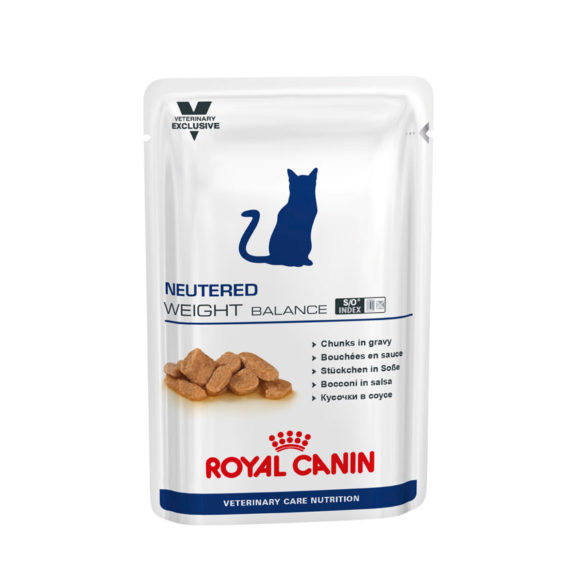 Royal Canin Vet Care Nutrition Feline Neutered Weight Balance 100g x 12 Pouches 1
