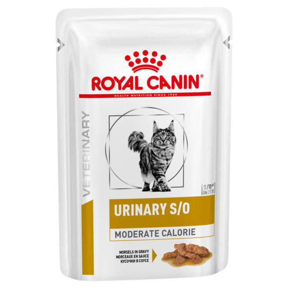Royal Canin Vet Diet Feline Urinary S/O Moderate Calorie 85g x 12 Pouches 1