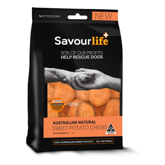 Savour Life Treats Sweet Potato Chews with Coconut Oil 150g 1