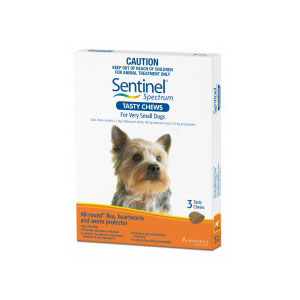 Sentinel Spectrum Brown Chews for Very Small Dogs - 3 Pack 1