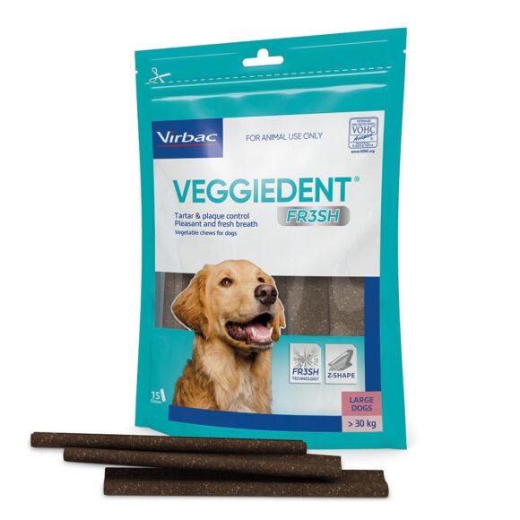 VeggieDent FR3SH Dental Chews for Large Dogs - 15 Pack 1