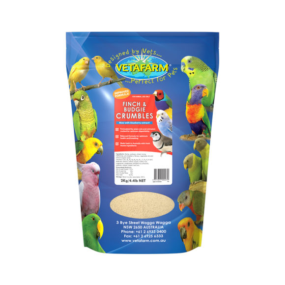 Vetafarm Finch and Budgie Crumbles 2kg 1
