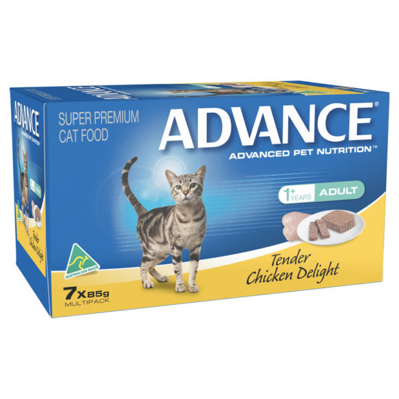 Advance Adult Cat Tender Chicken Delight 85g x 7 Cans 1