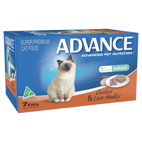 Advance Adult Cat Chicken & Liver Medley 85g x 7 Cans 1