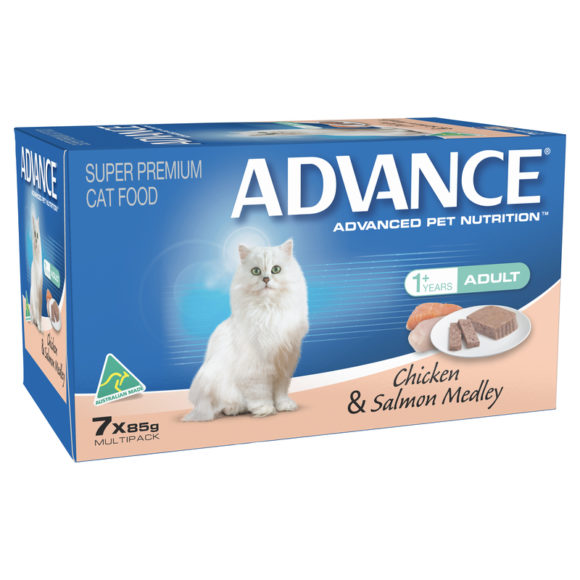 Advance Adult Cat Chicken & Salmon Medley 85g x 7 Cans 1